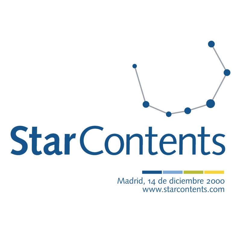 Star Contents vector logo