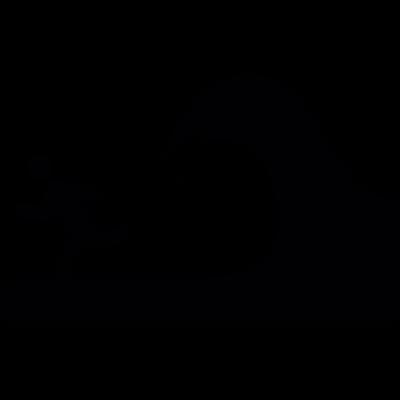 Waves Danger vector logo