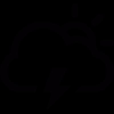 Sun and storm vector logo