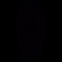 Cross on a coffin vector