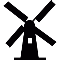 Netherlands windmill vector