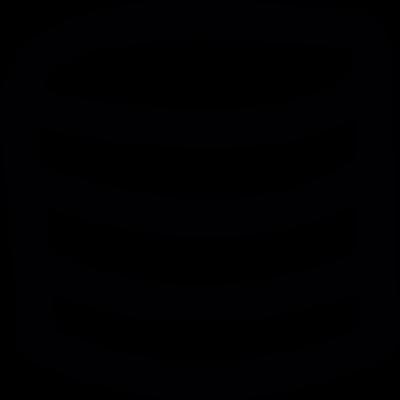 Database gross rustic lines symbol vector logo