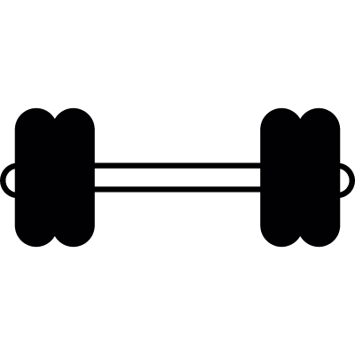 Double Gym Dumbbell vector logo