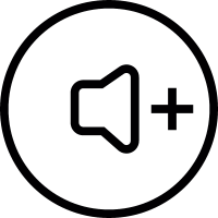 Speaker with Plus Symbol Button vector