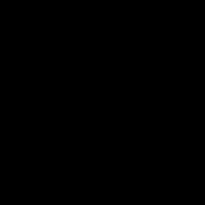 Picture, IOS 7 interface symbol vector logo