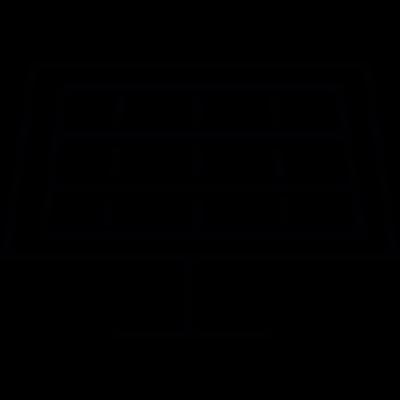 Solar panel, IOS 7 interface symbol vector logo