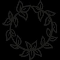 Crown of Leaves vector