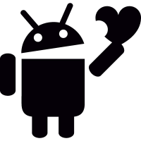 Android with Heart vector