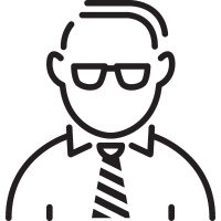 Manager with Tie vector