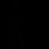 Blind man silhouette vector