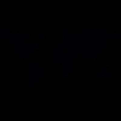 Flat World Map vector logo