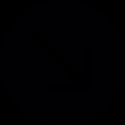 Arrow right down vector logo