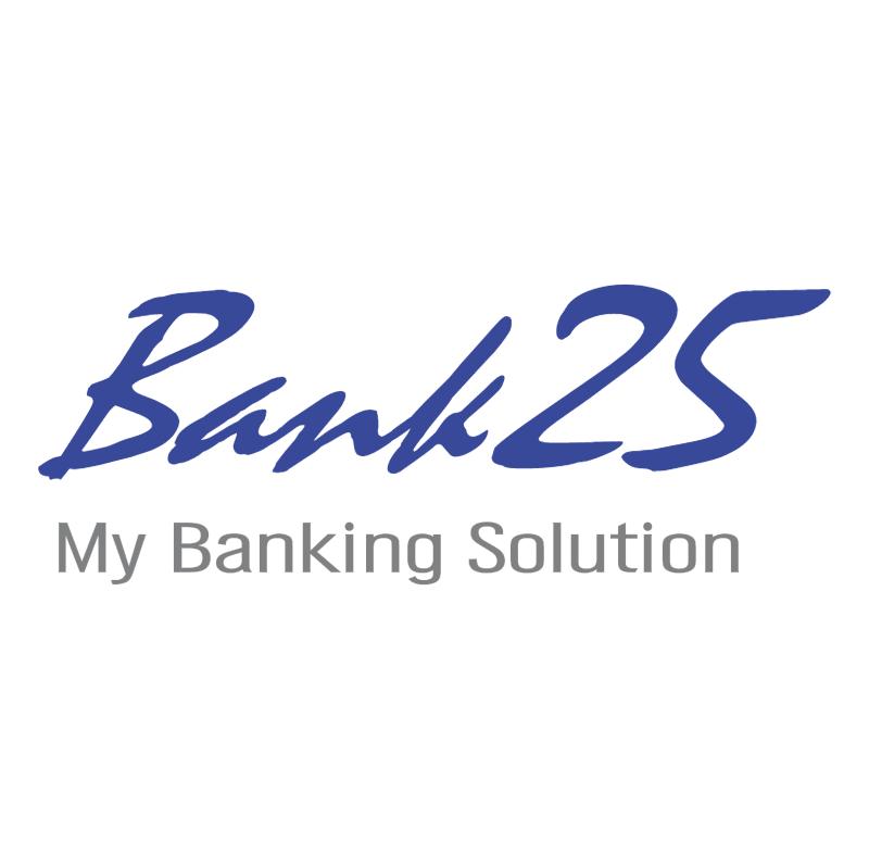 Bank 25 77258 vector
