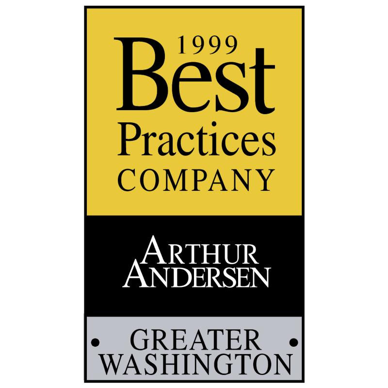 Best Practices Company Arthur Andersen vector