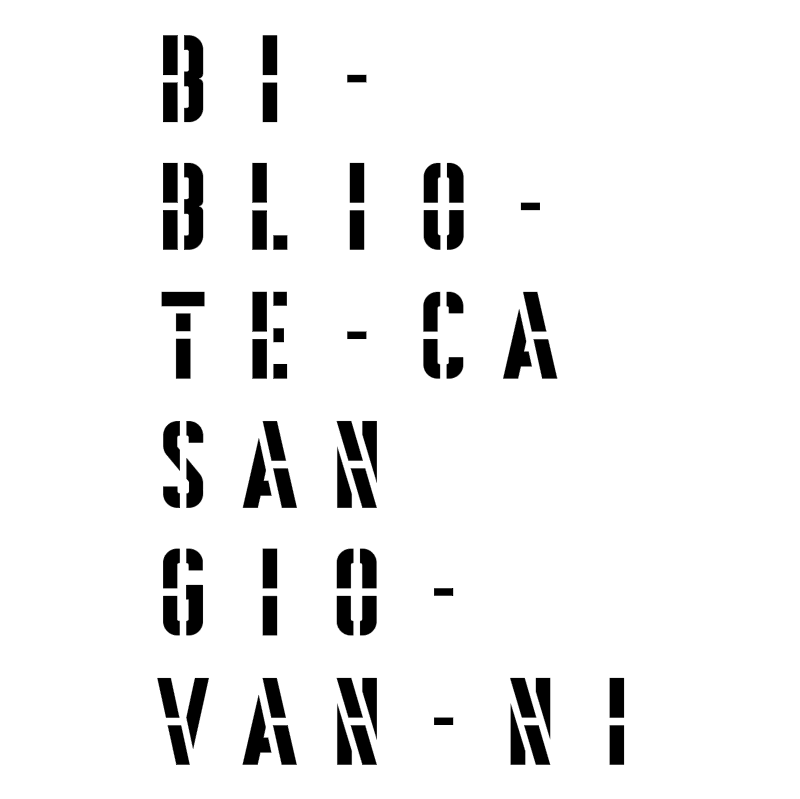 Biblioteca San Giovanni Pesaro vector