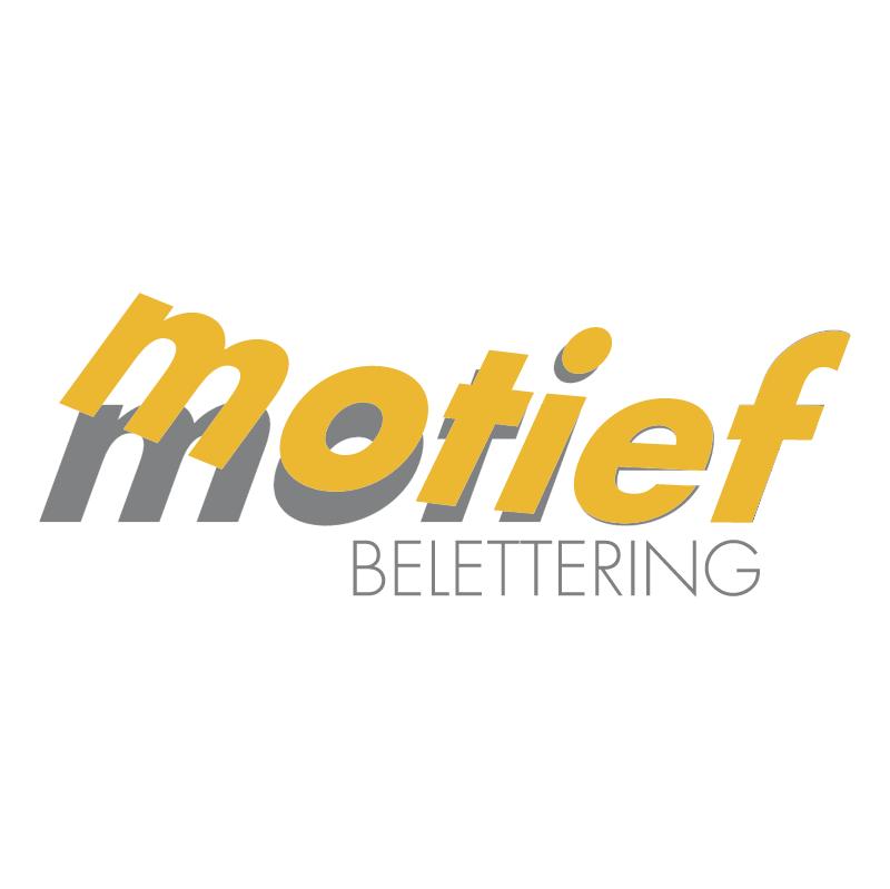 Motief belettering vector