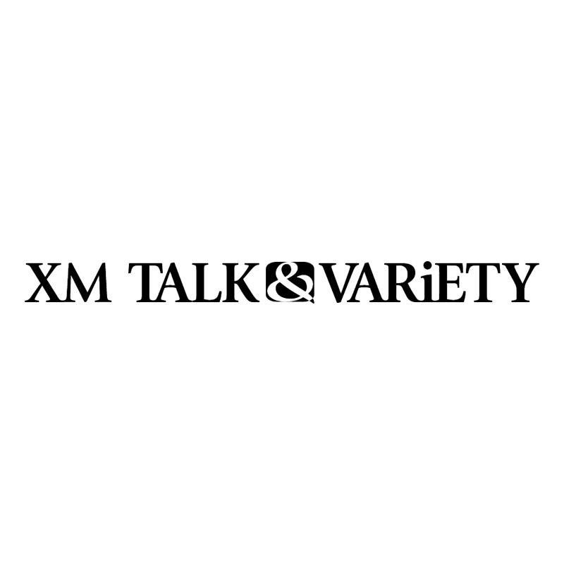 XM Talk&Variety vector