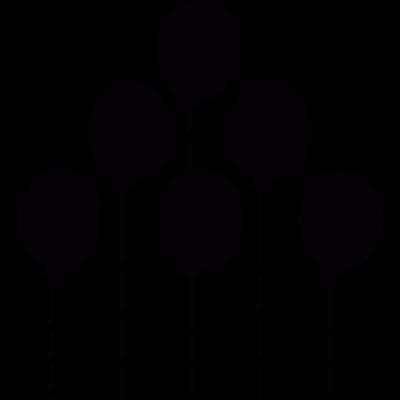 Balloons making a triangle vector logo