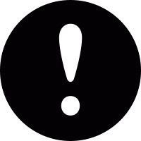 Exclamation mark in a circle vector