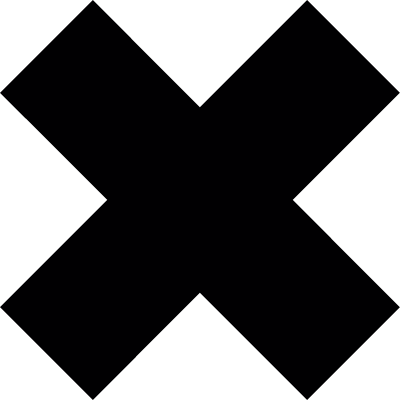 Cancel symbol vector logo