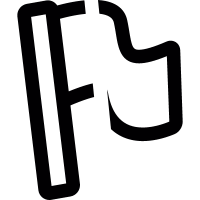 Waving flag vector