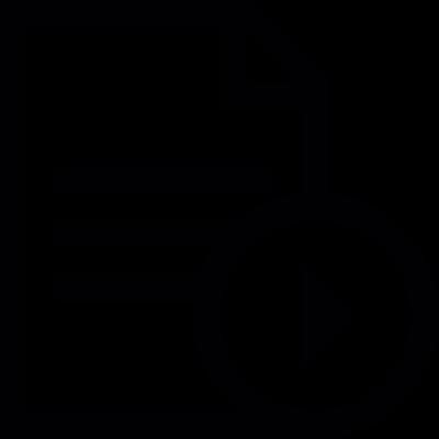 Play Text Document vector logo