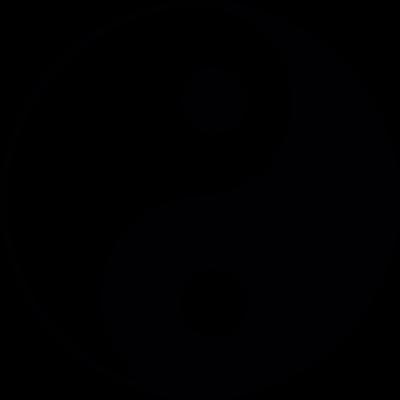 Yin Yang symbol vector logo