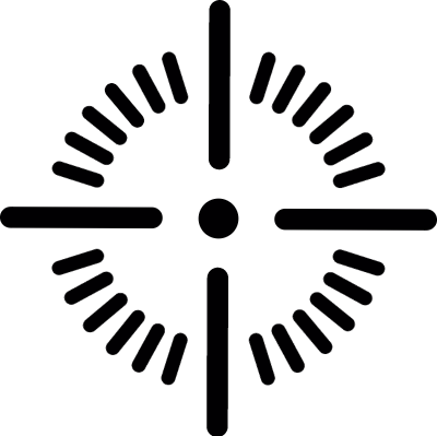 Shoot target point vector logo