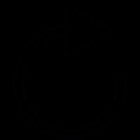 Reloading white arrow vector