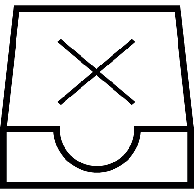 Mailbox empty, IOS 7 interface symbol vector logo