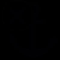 Anchor symbol with cross mark vector