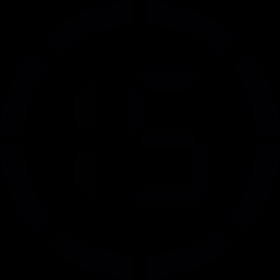 Digital number 15 vector logo