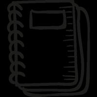 Draw School Notebook vector