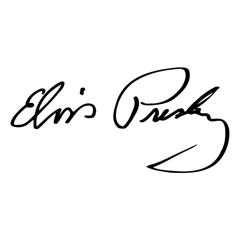Elvis Presley signature vector