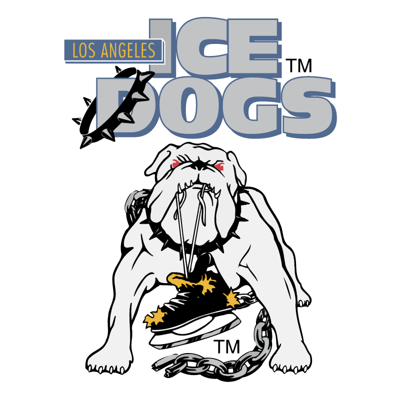 Long Angeles Ice Dogs vector