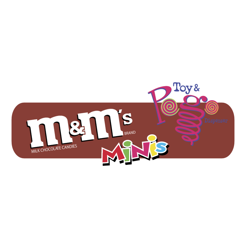 m&m's MINIs Toys & Pogo Dispenser vector