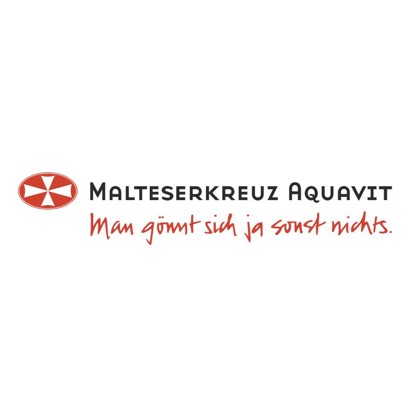 Malteserkreuz Aquavit vector