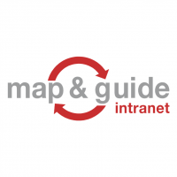 Map & Guide Intranet vector