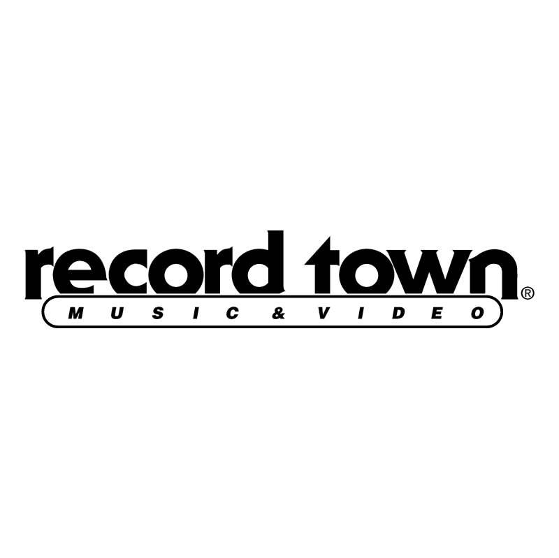 Record Town vector