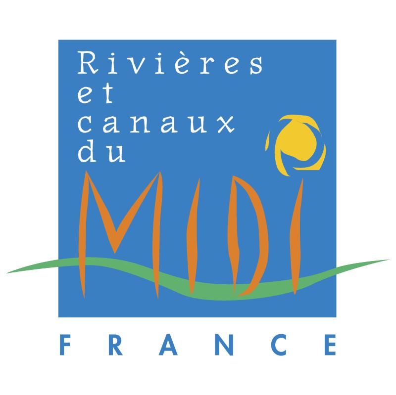 Rivieres et canaux du Midi France vector