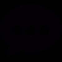 Speech bubble black vector
