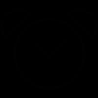 Alarm bell clock vector