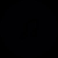 Musical note inside a button vector