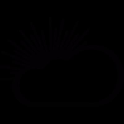 Cloudy day vector logo