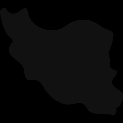 Iran black country map shape vector logo