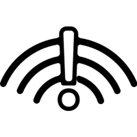 Signal sign with an exclamation symbol vector