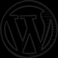 WordPress Draw Logo vector