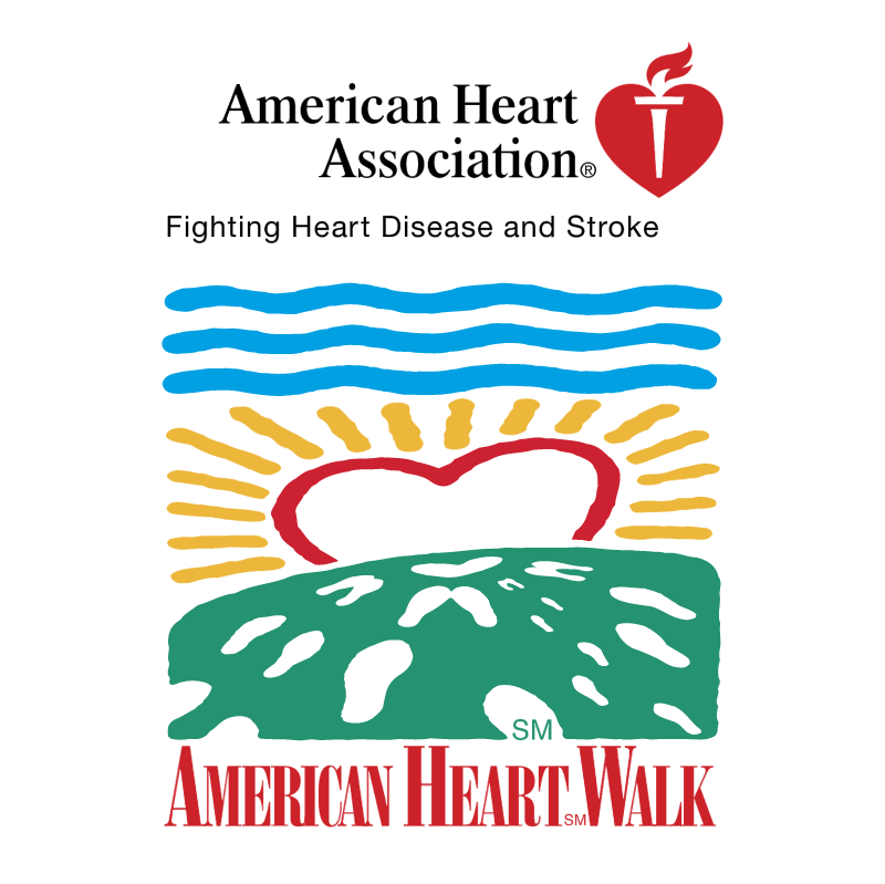 American Heart Walk vector