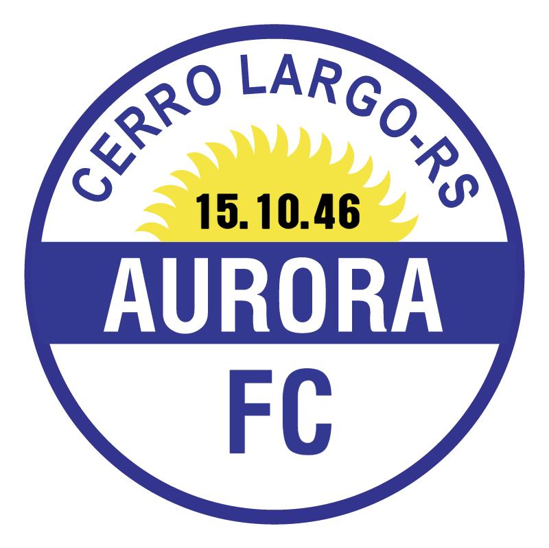 Aurora Futebol Clube de Cerro Largo RS 77303 vector logo