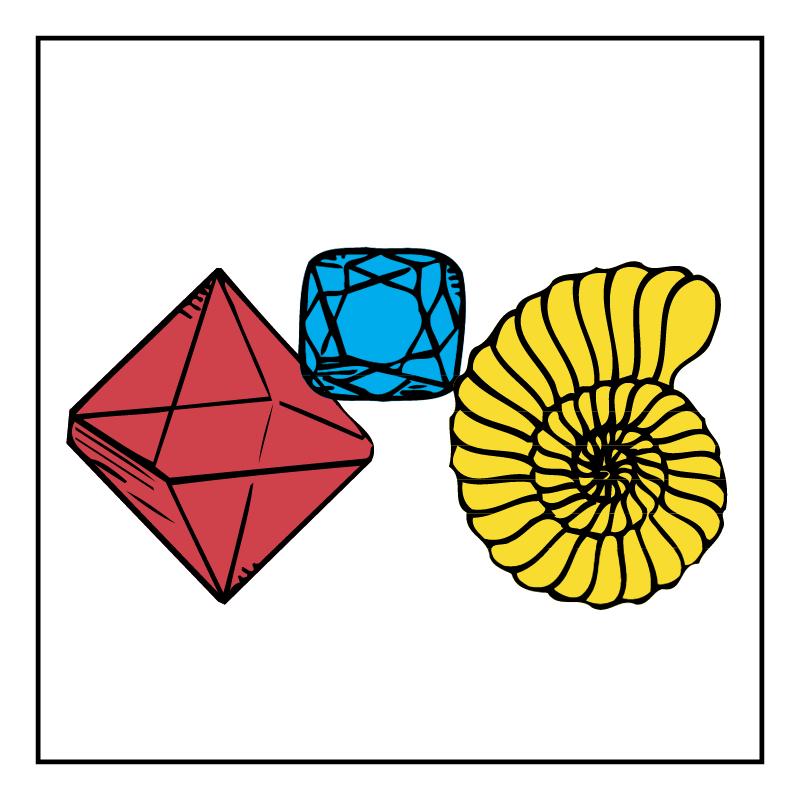 Mineralien vector